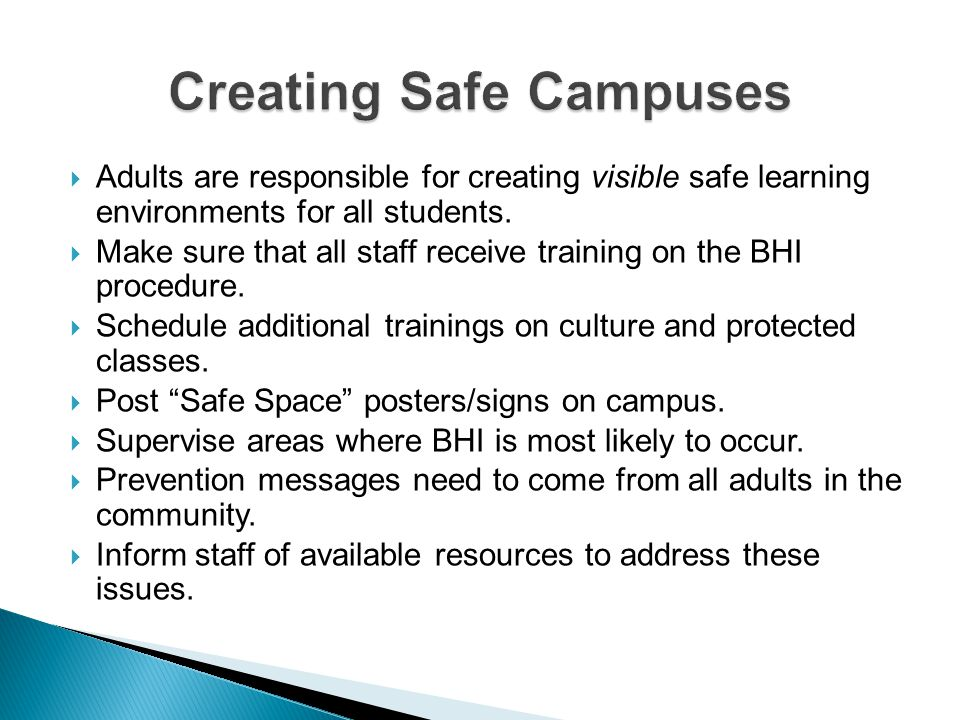 Creating Safe Campuses