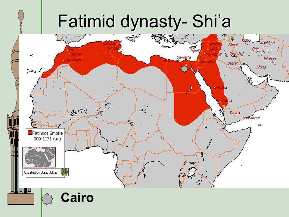 Fatimid dynasty- Shi'a