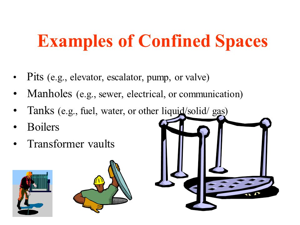 Examples of Confined Spaces