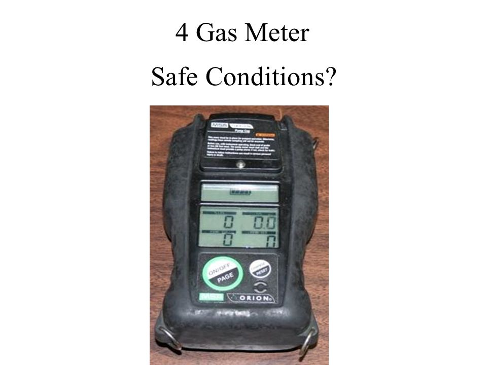 4 Gas Meter Safe Conditions