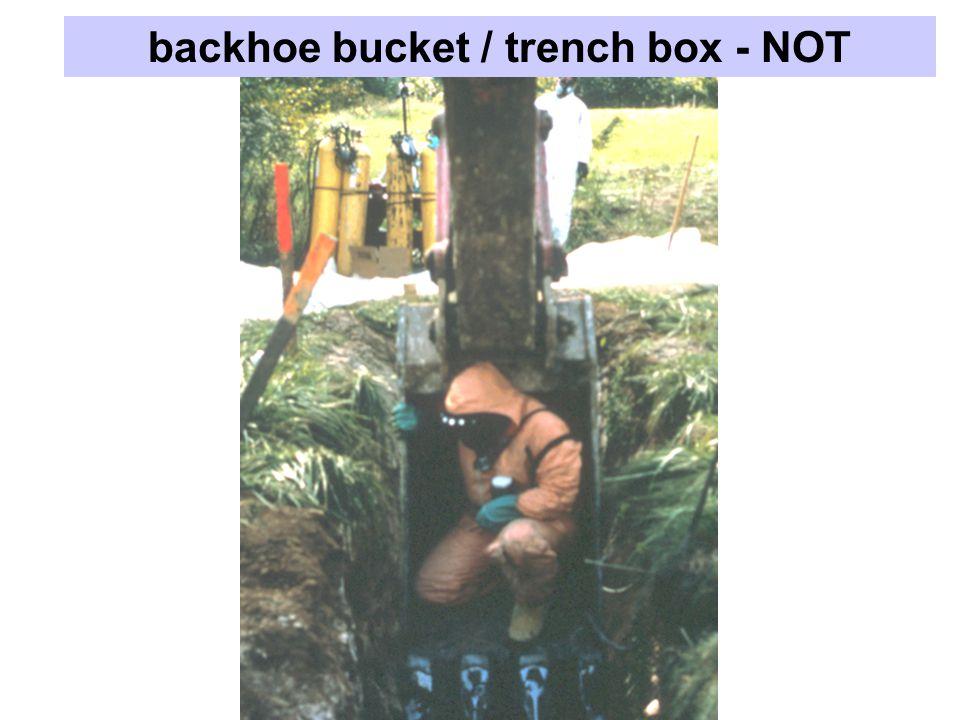 backhoe bucket / trench box - NOT