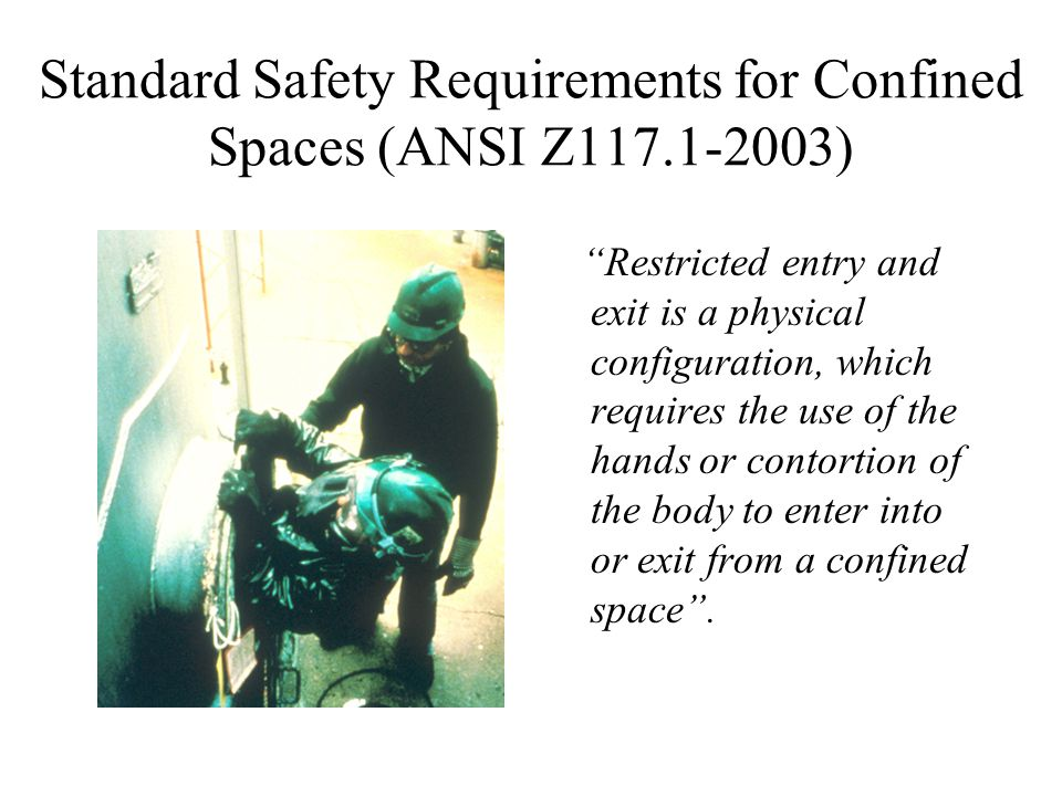 Standard Safety Requirements for Confined Spaces (ANSI Z117.1-2003)