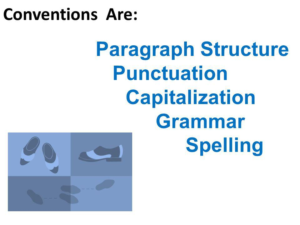 Paragraph Structure Punctuation Capitalization Grammar Spelling