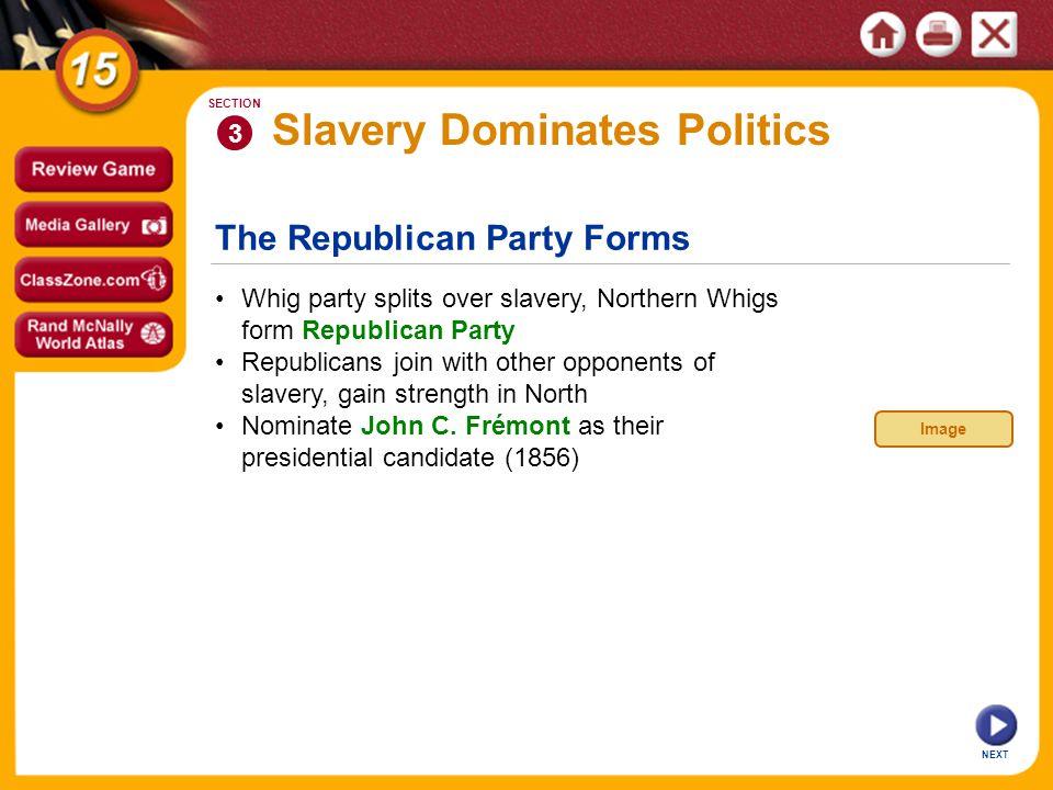 Slavery Dominates Politics