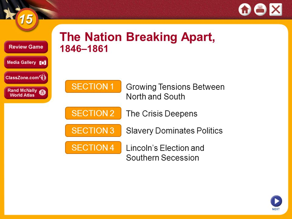 The Nation Breaking Apart,