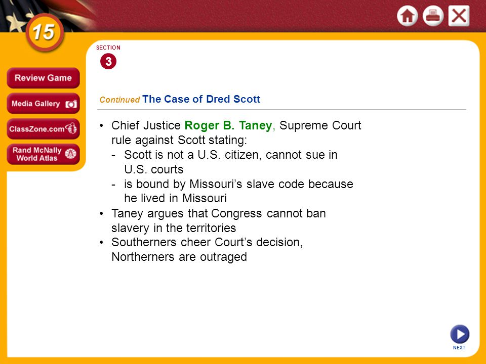 - Scott is not a U.S. citizen, cannot sue in U.S. courts