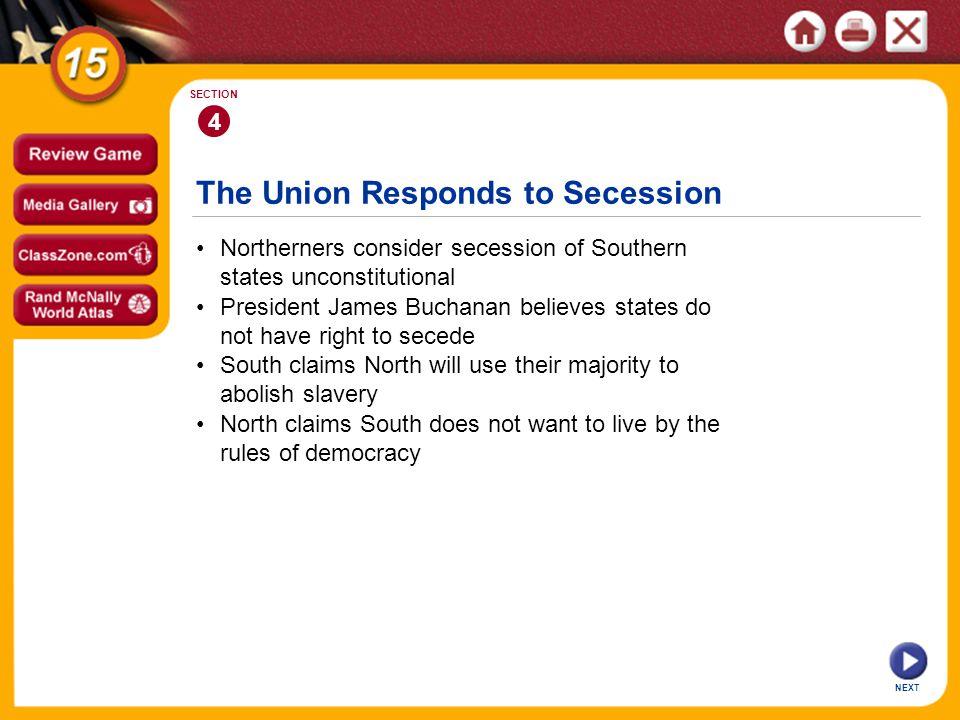 The Union Responds to Secession