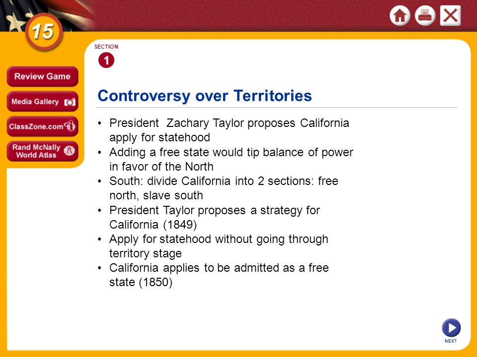 Controversy over Territories