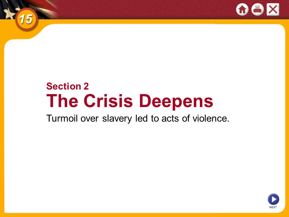 The Crisis Deepens Section 2