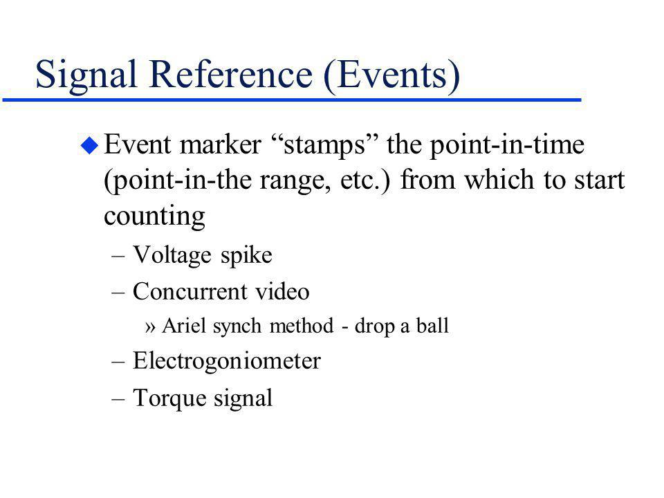 Signal Reference (Events)