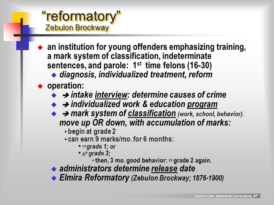 reformatory Zebulon Brockway