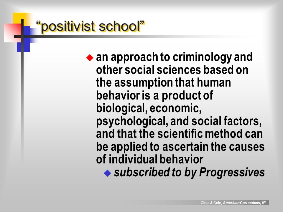 positivist school