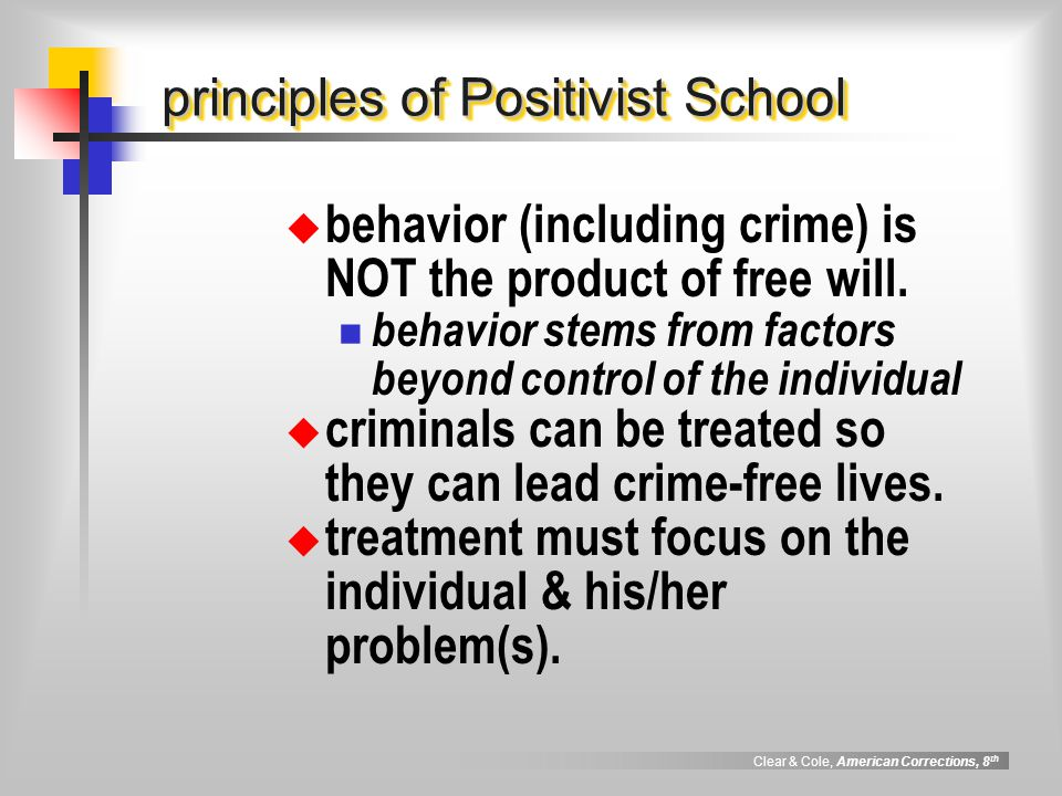 principles of Positivist School