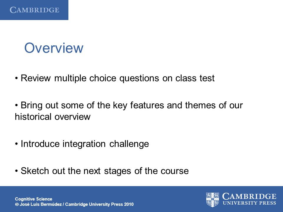 Overview • Review multiple choice questions on class test