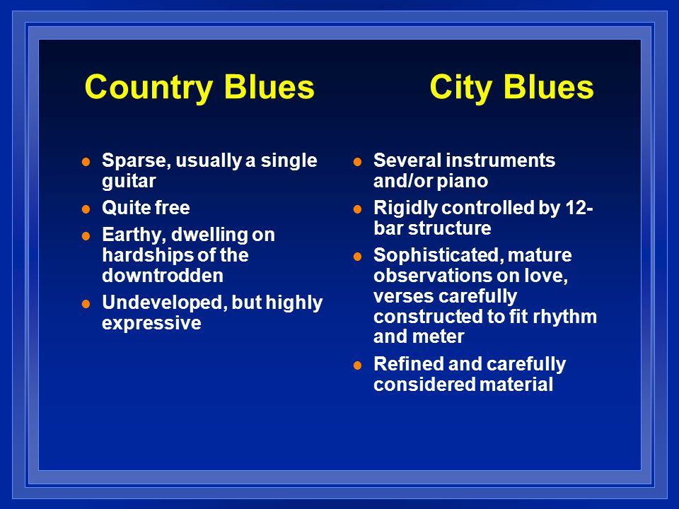 Country Blues City Blues