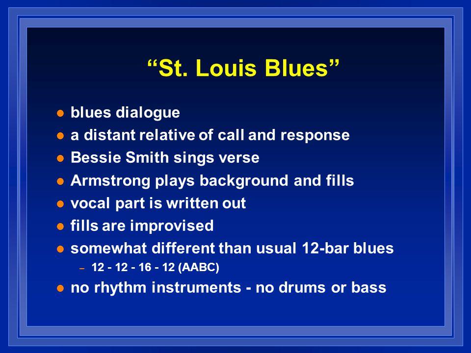 St. Louis Blues blues dialogue