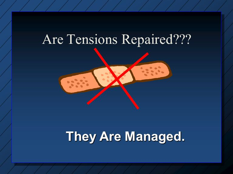 Are Tensions Repaired They Are Managed.