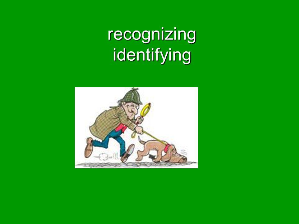 recognizing identifying