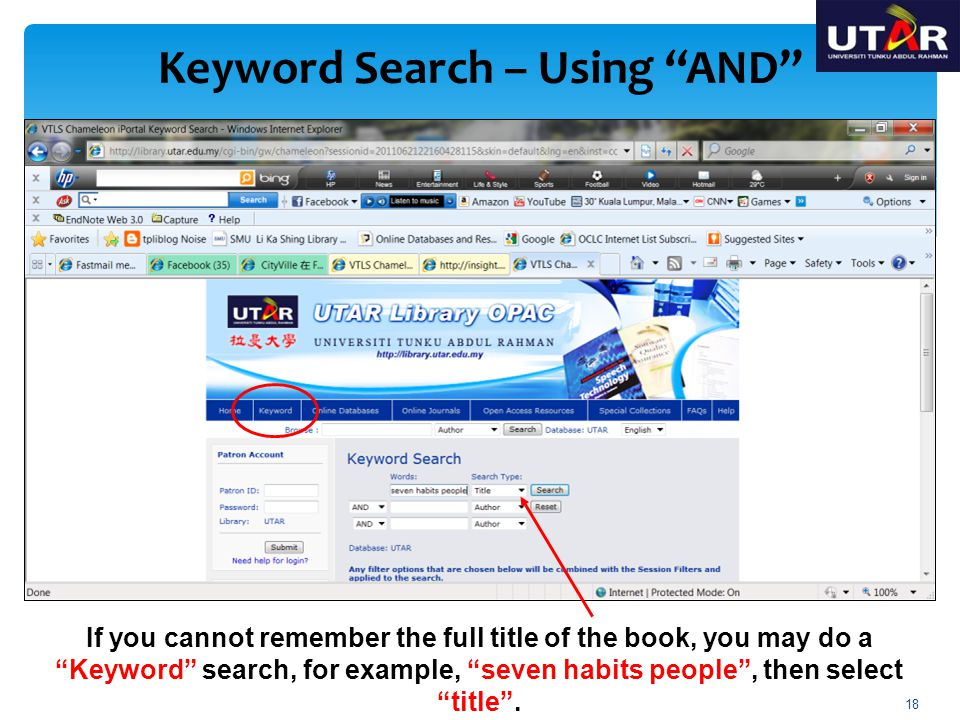 Keyword Search – Using AND