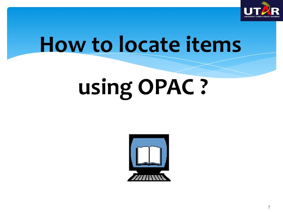How to locate items using OPAC