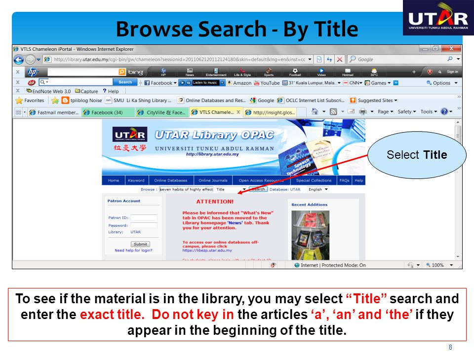 Browse Search - By Title