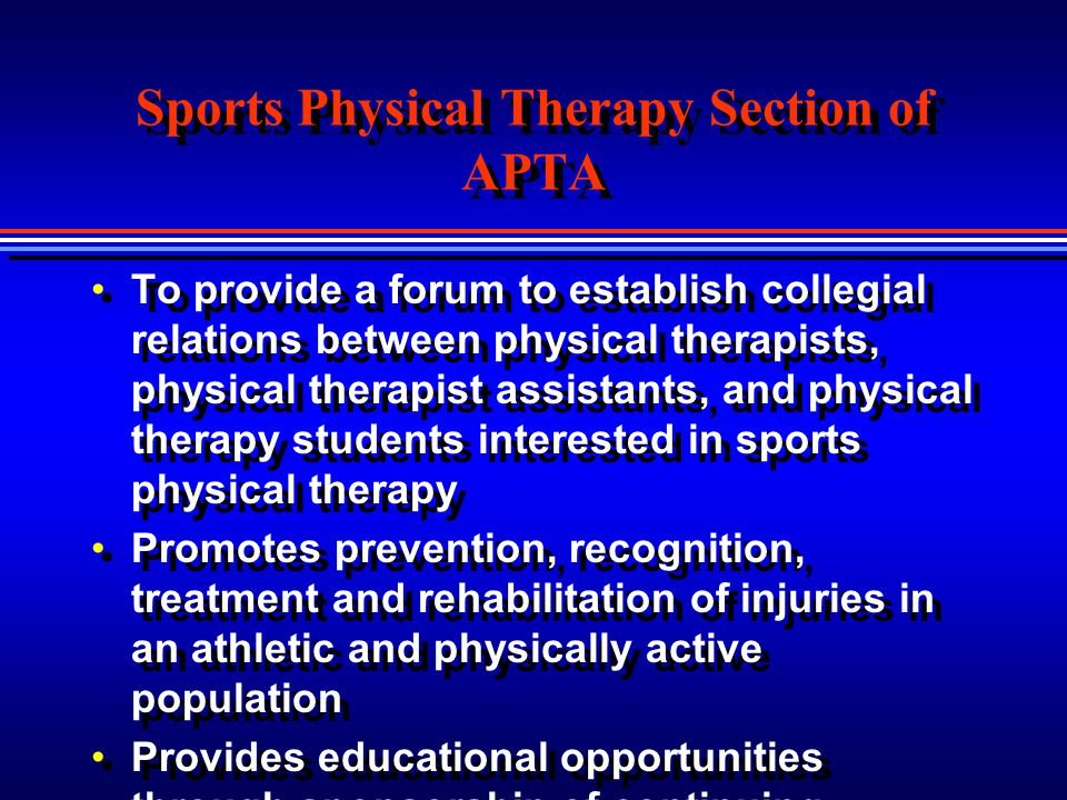 Sports Physical Therapy Section of APTA