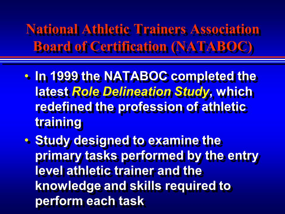 National Athletic Trainers Association Board of Certification (NATABOC)