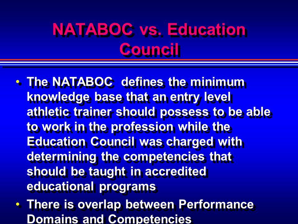 NATABOC vs. Education Council