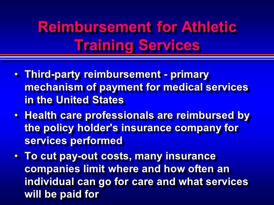 Reimbursement for Athletic Training Services