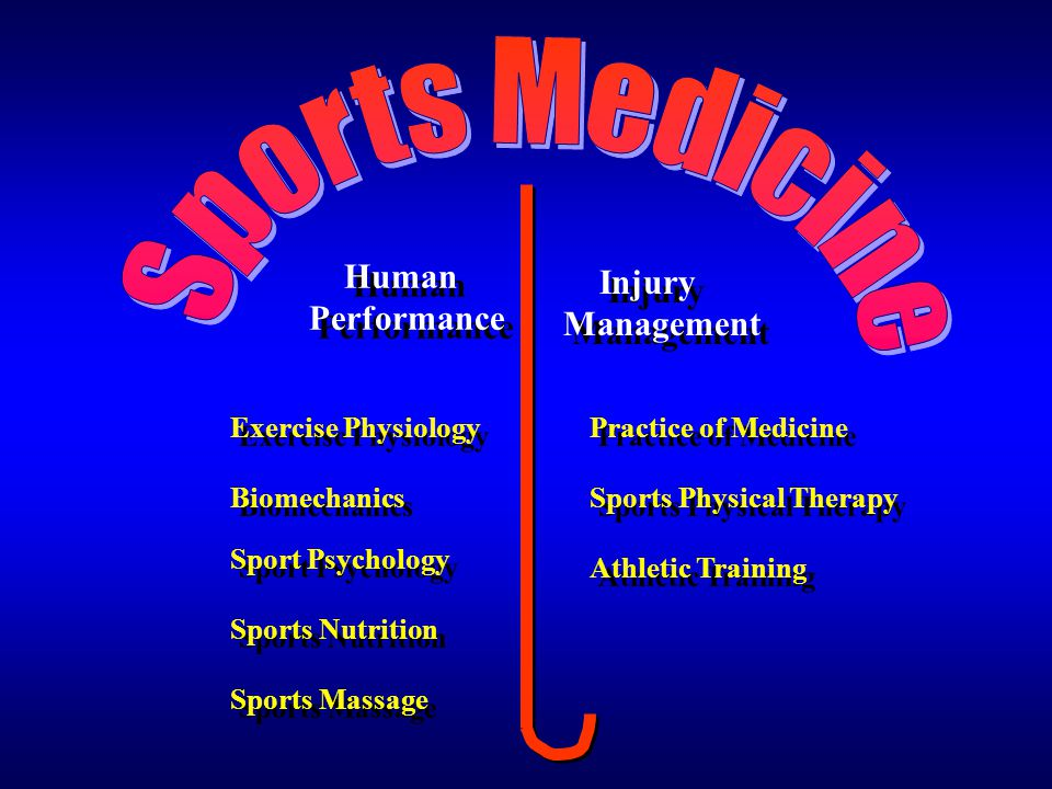 Sports Medicine Human Performance Management Injury