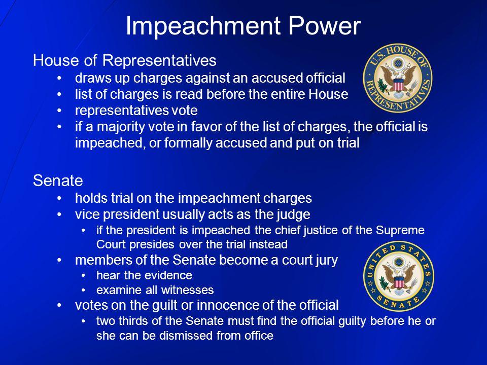 Impeachment Power House of Representatives Senate