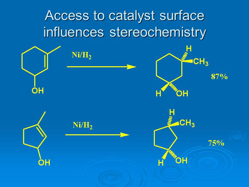 Access to catalyst surface influences stereochemistry