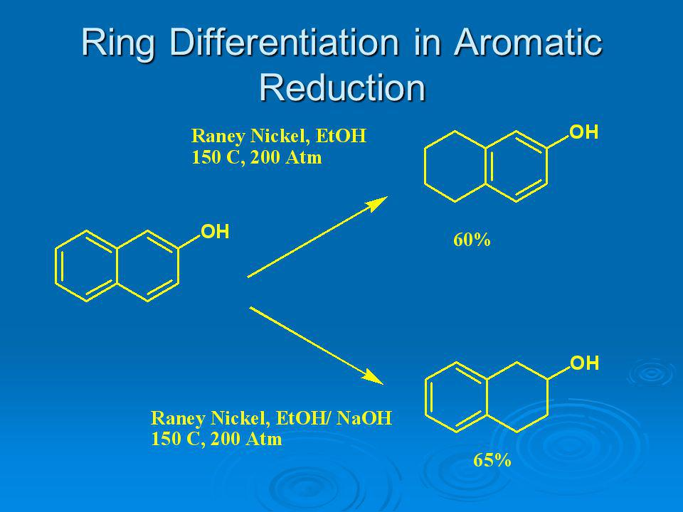 Ring Differentiation in Aromatic Reduction