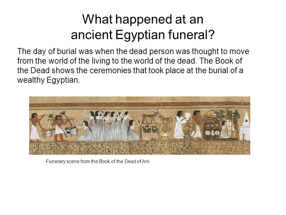 What happened at an ancient Egyptian funeral