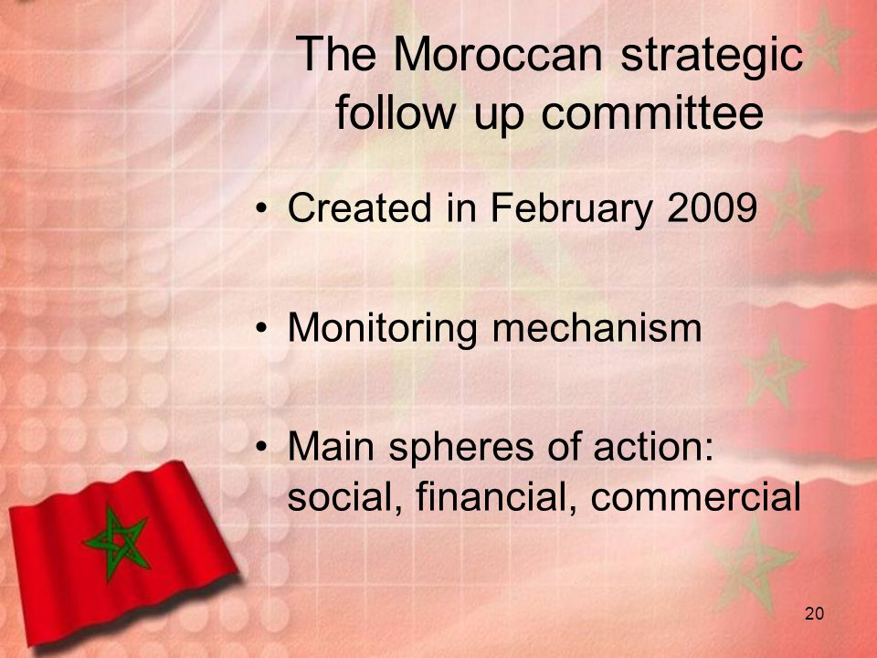 The Moroccan strategic follow up committee
