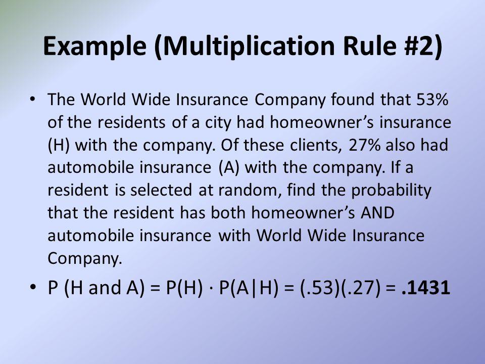 Example (Multiplication Rule #2)