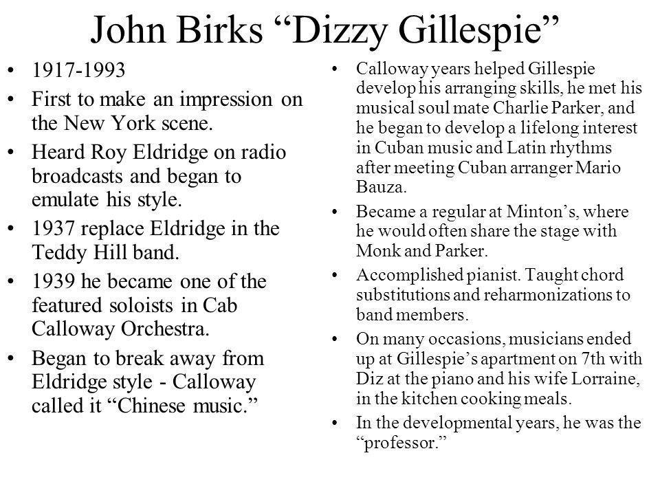John Birks Dizzy Gillespie
