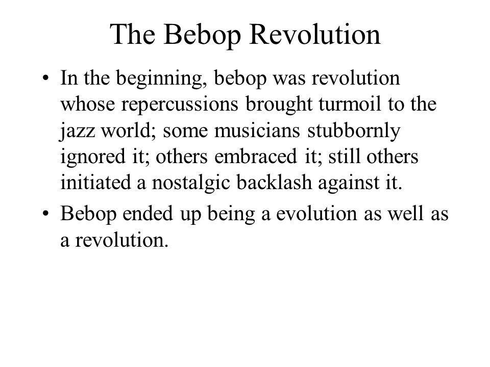 The Bebop Revolution