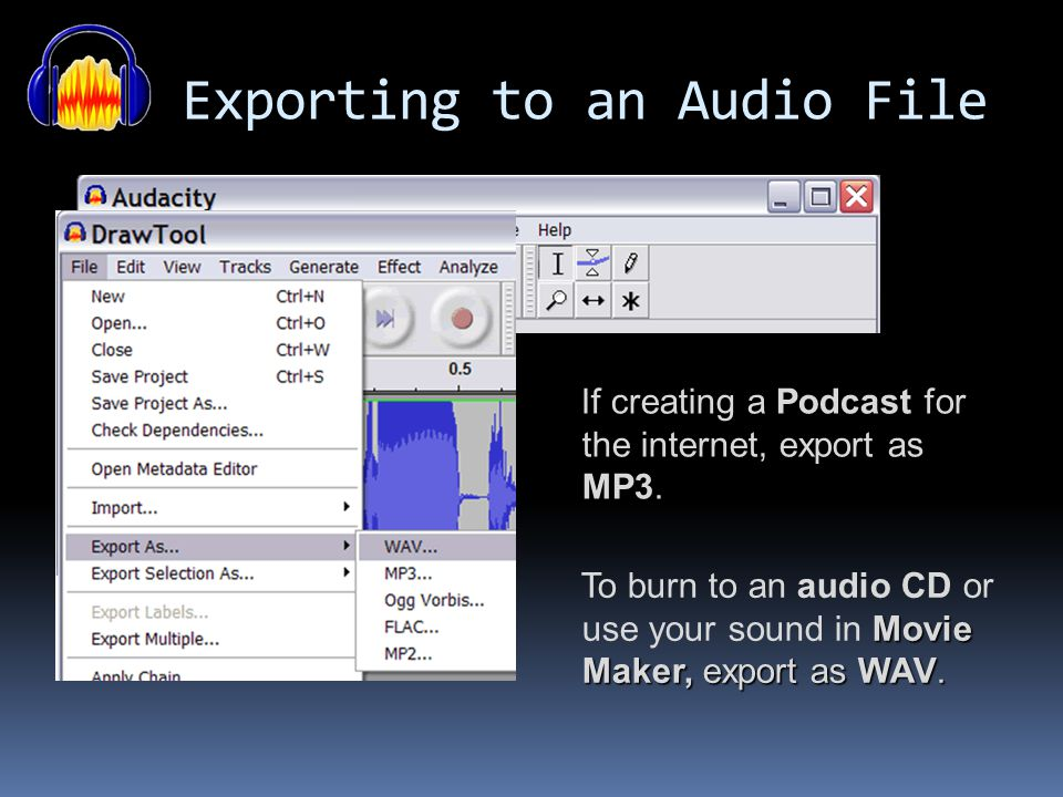 Exporting to an Audio File