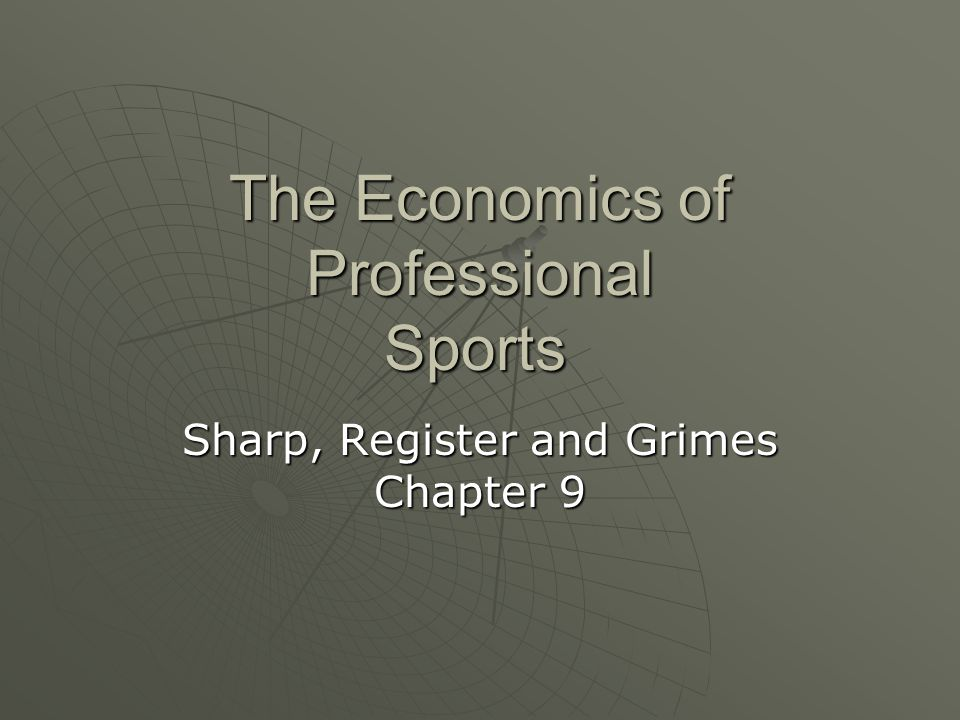 The Economics of Professional Sports