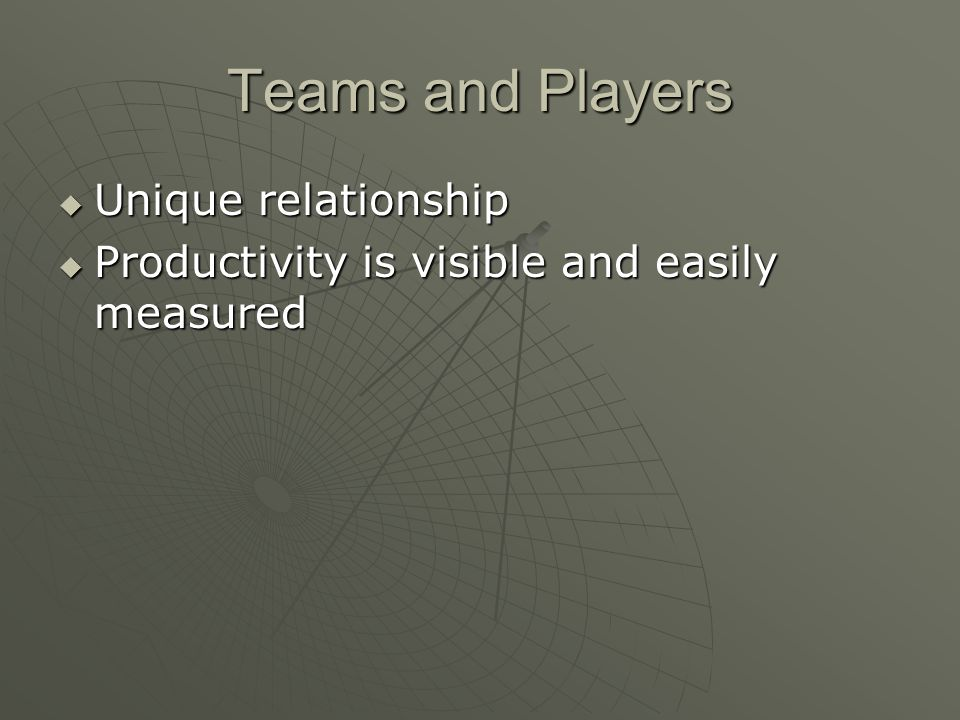 Teams and Players Unique relationship
