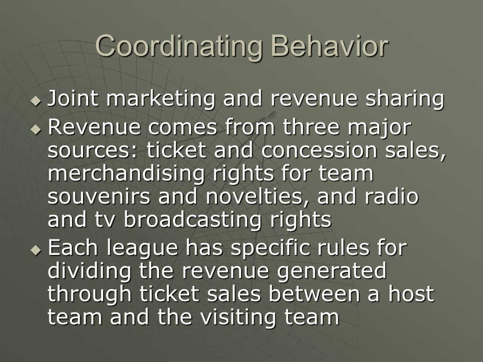 Coordinating Behavior