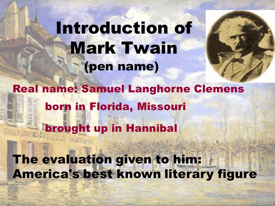 Introduction of Mark Twain