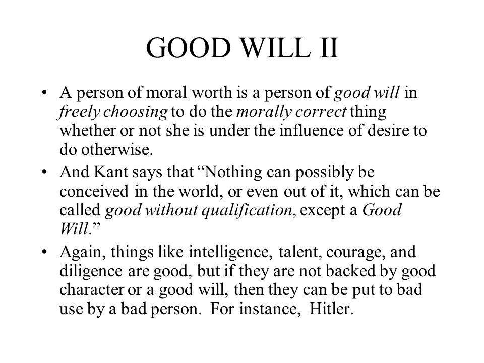 GOOD WILL II