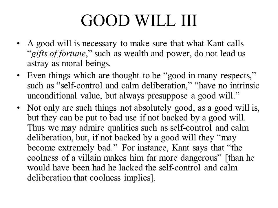 GOOD WILL III