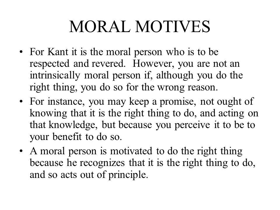 MORAL MOTIVES