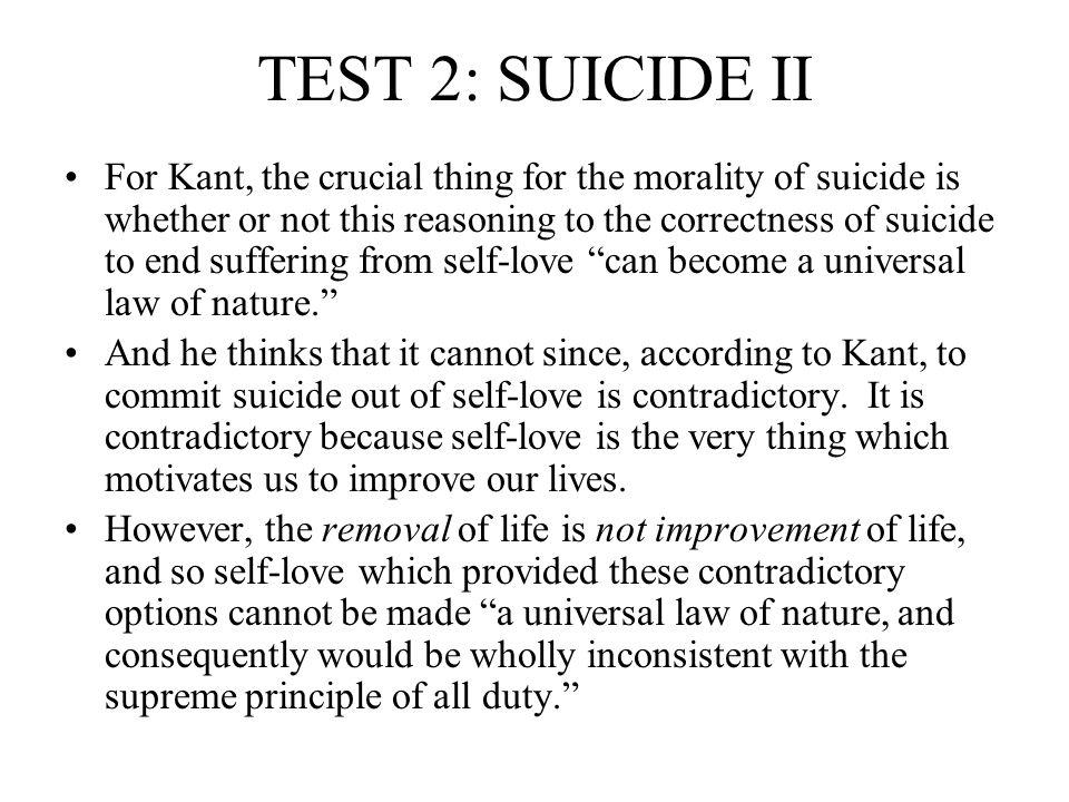 TEST 2: SUICIDE II