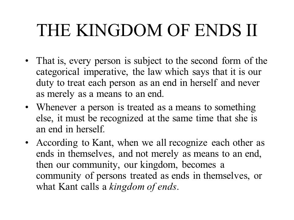 THE KINGDOM OF ENDS II