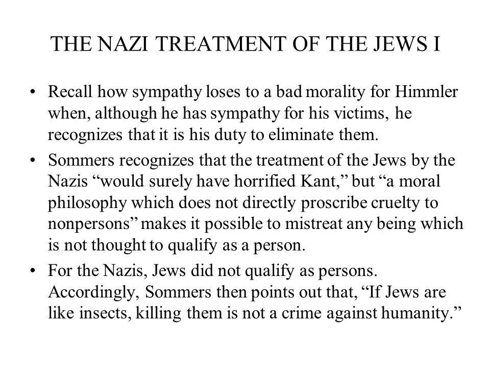 THE NAZI TREATMENT OF THE JEWS I