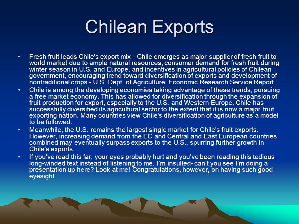 Chilean Exports